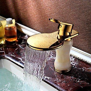 GDS Wasserhahn,PVD-Titanoberflächen behandelt Jadeit Bestseller Bad Waschbecken Wasserhahn weit verbreiteten Einhebel Einlochmontage