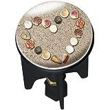 Wenko 20726100 Waschbeckenstöpsel Pluggy Heartbeach Abfluss Stopfen, Messing, Kunststoff, Durchmesser 3.9 x 6.5 - 9.5 cm