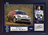 Colin McRae Ford World Rally Team SIGNED Autograph Foto, gerahmt