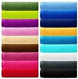 Lashuma Handtuch Set - Frotteeserie Premium New Plus - in 18 Farben und 5 Größen, Farbe: chocolate - braun, 4er Set Gästetücher 30x50 cm