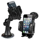 Xtra-Funky universale cellulare supporto dispositivo per auto piena di rotazione e l'attaccamento finestra per PDA, iPhone, Samsung, HTC, Sony, LG, Nokia, Navigatore Satellitare e molti altri