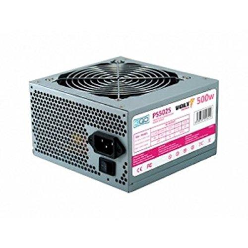 3GO PS502S 500W ATX Acero Inoxidable Unidad de - Fuente de alimentación (500 W,...