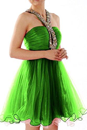 MACloth - Robe - Boule - Sans Manche - Femme Vert - Vert foncé