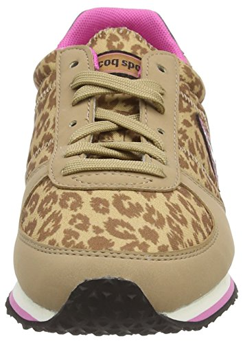 Le Coq Sportif Bolivar W Animal Print, Damen Sneakers Braun (tigers Eyes)
