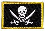Flaggen Aufnäher Pirat mit zwei Schwertern Fahne Patch +
