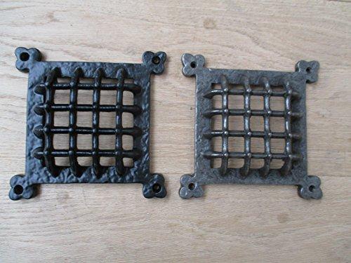 Ironmongery World® Gusseisen Vintage Mittelalter Gothic Fenster Tür Belüftung Grill Blende (Antik Eisen)
