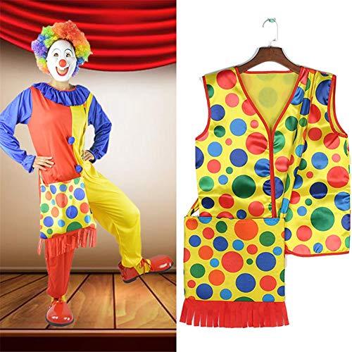 Weste/Rucksack, Cosplay Performance Halloween Make-up Kostüme, Clown Dress Up Accessoires, für Zirkus, Shopping Mall Bühne, Maskerade, Mottoparty, Halloween ()