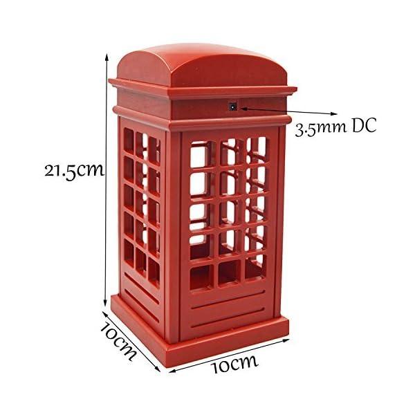 Table Réglable Londres Touch Bureau Veilleuse Luminosité Charge Gosear®lampe Chambre Sensor Cabine De Pour Vintage Téléphonique Conçu Led Usb PZXiOkuT