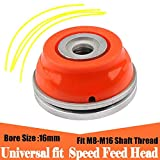 Universal fit Gas Strimmer Weed Eater Aluminum Head 2 Lines Brush Cutter Head