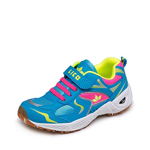 Lico Bob Vs, Chaussures de Fitness Fille, Türkis (Tuerkis/Pink/Lemon