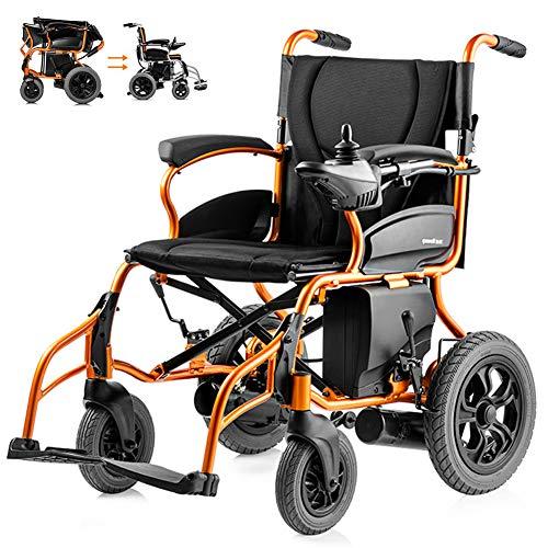 KuiGu Elektrischer Rollstuhl Faltbarer älterer Behindertenhilfe-Auto älterer intelligenter kompakter automatischer tragbarer Leichter Roller Freie Installation, 26kg,Lefthand