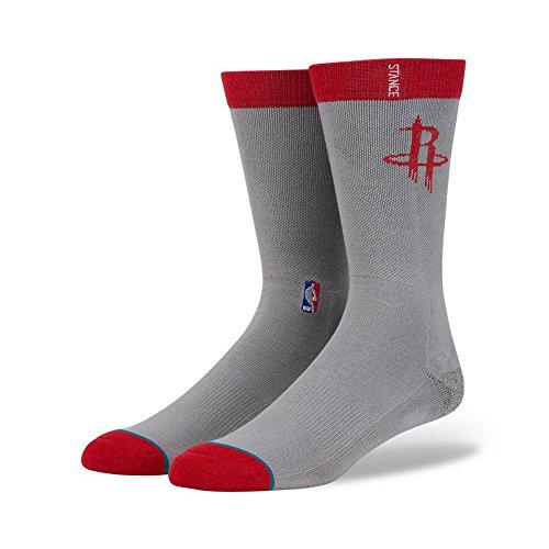 Stance - - Herren Rockets Arena Logo Socken, Large, Grey