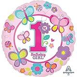 Amscan Standard-C Geburtstagsluftballon, für Mädchen, mit englischem Schriftzug