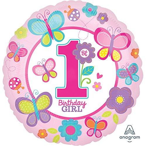 Amscan Standard-C Geburtstagsluftballon, für Mädchen, mit englischem -