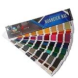 NUANCIER RAL - Palette Peinture - Coloris Peinture - Format Papier - 21cm x4cm - ARCANE INDUSTRIES