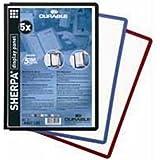 Durable Sherpa Sichttafel transparent mit farbigem flexiblem Rahmen, rot, 03 06/56/(DE), A4, 10 Stück - gut und günstig