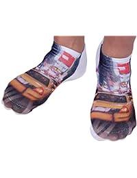Verrückte Socken Tiersocken 3D Motivsocken Söckchen Sneaker Socken Tiere Unisex von Alsino