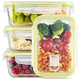 Zoë&Mii Lebensmittelbehälter aus Glas 8 teilige Set 850 ml - Hochwertige und luftdichte Glasschalen BPA-frei - Frischhaltedosen Vorratsdosen mit Smart Lock Deckel - Meal Prep, Glasschüssel mit Deckel
