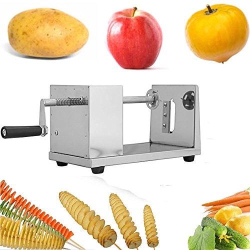 Iglobalbuy Edelstahl Potato gewundene Kartoffel Melone Slicer Cutter Karotte Kartoffelchips Twister Obst Gemüseschneider Spiral Ausschnitt Maschine Peeler