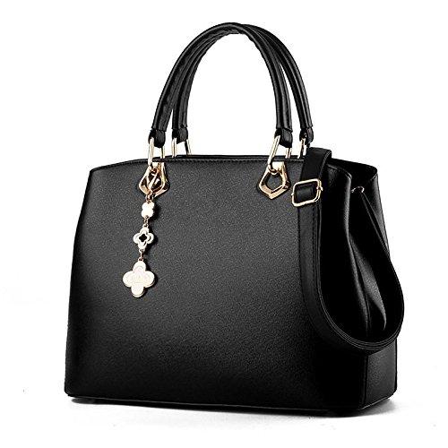 jqameuropean-e-americano-di-moda-donna-borsa-a-tracolla-messenger-handbag-black
