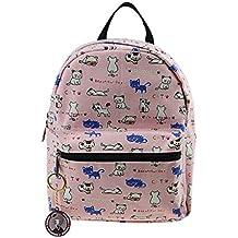 FakeFace Mochila saco infantil enfadado primaria proteger Cartera escolar para el hombro infantil de tela