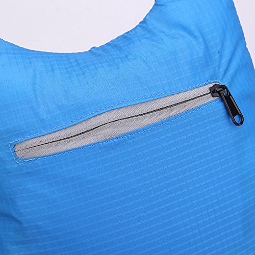 HWJF La borsa esterna del sacchetto della pelle di può essere piegata zaino portatile di tendenza impermeabile portatile dello spalla , dark blue Purple