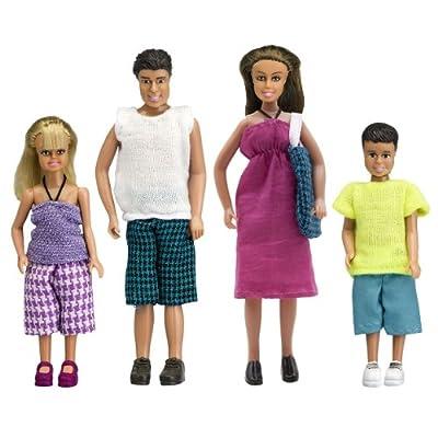 Lundby Stockholm Doll Family Summer - Set de muñecos de familia (escala 1:18) de Lundby