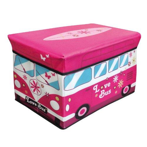 Camper Van Retro Design Jumbo Kids Bedroom Room Tidy Toy Magazine Storage Chest Box Trunk