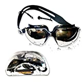#4: Aurion Swim Goggles, Aegend Mirrored Swimming Goggles No Leaking Anti Fog UV Protection Triathlon Swim Goggles with Free Protection Case for Adult Men Women Youth Kids Child, Black ( ASSORTED COLORS)