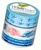 Folia 26424 - Washi Tape, Maritim, 4er Set