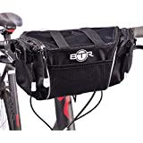BTR Large Handlebar Storage Bike Bag Pannier With Removable Shoulder Strap and Water Resistant