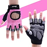 Hykes Gym Gloves for Weight Lifting Crossfit Fitness Workout Hand Grips for Women