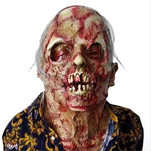 Horror Rotten Zombie Devil Schädel Abdeckung Freaky Zombie Mask Fusion Gesicht Adult Latex Halloween Kostüm Prop - Freaky Zombie Kostüm