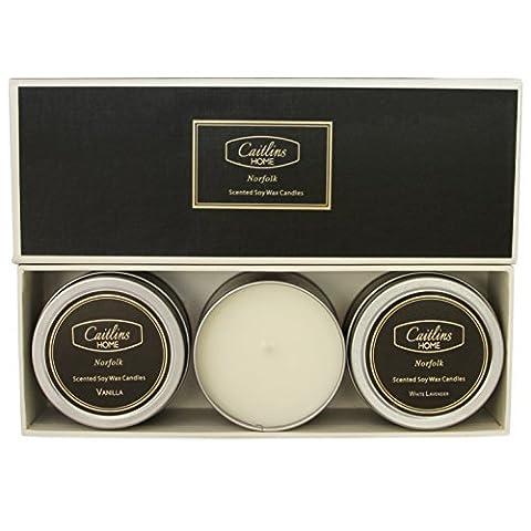 Bougies parfumées d'aromathérapie en cire de soja. Parfait cadeaux Lot de 3, multicolore, 3