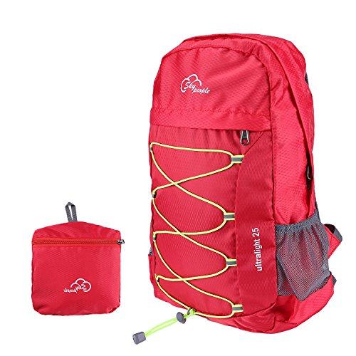 Rucksack,Faltbare Leichter Wasserdicht Freizeitreise Wandern Sport Rucksack rote
