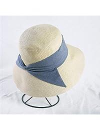 Eeayyygch Sombrero para el Sol Sombrero para el Arco Sombrero de Paja  Sombrero para Vacaciones Sombrero para la Playa Simple (Color… 76498bfe094