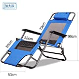 TBB-Trail Camping Camping silla plegable silla plegable carpa plegable Silla Silla de playa silla plegable de alta calidad,azul 178CM