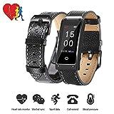 Fitness Tracker Uhr, TechCode Farbbildschirm IP67 Wasserdicht Blutdruck & Herzfrequenz & Schlafüberwachung Armband Armband, Kalorienzähler Schrittzähler Sport Smart Watch für Activity Tracker für Android und IOS (Y2-Schwarz)