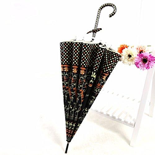 zjm-japanese-long-handle-automatic-umbrella-cute-cartoon-catcreativity-student-umbrellablack