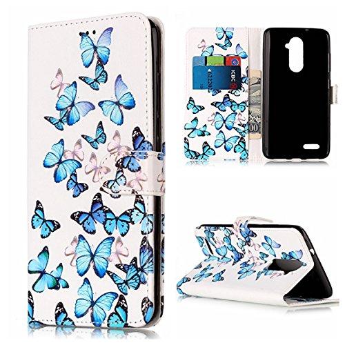 Cozy Hut ZTE Zmax Pro/ Z981 Hülle Case, Bookstyle Handy hülle Premium PU-Leder Tasche Flip Case Brieftasche Etui Schutz Hülle für ZTE Zmax Pro/ Z981 Ledertasche Tasche Handyhülle Schutzhül