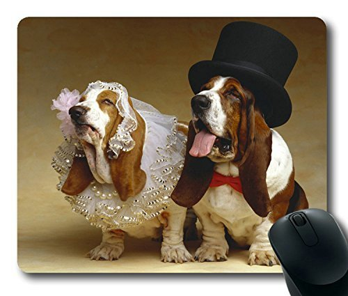 Funny Dog Dress Easter Thanksgiving Personlized Masterpiece Limited Design Oblong Mouse Pad by Cases & Mousepads