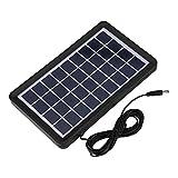 Tonysa Pannello Solare 9V 3W Pannello Solare Impermeabile 93% Trasmissione della Luce Cella Solare in Poli silicio, Banca Portatile di energia Solare per Viaggi, Escursioni, Campeggio