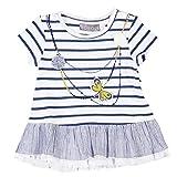 boboli 213040-9468, Vestido para Bebés, Azul (Listado Bicolor Ultramar), 18M