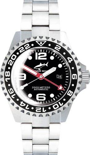 Chris Benz Deep 2000m Automatic GMT Bubble CB-2000A-D2-MB Orologio...