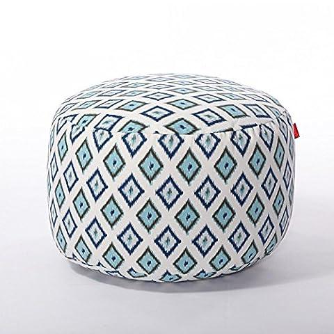 Lazy Fabric Sofa Stool?25Cm*45Cm? , Fresh Blue