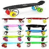 "MAXOfit® Mini Cruiser Retro Skateboard Komplettboard American Style 55cm 22"""