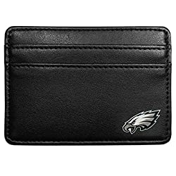 NFL Philadelphia Eagles Leather Weekend Wallet, Black