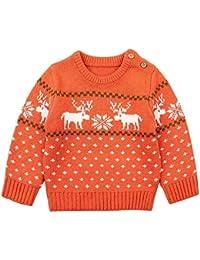 ZODOF Suéter de Color sólido para niños Niños Baby Girl Boy Jersey de Punto Cardigan de Costura sólida Tops Outfit Clothes