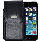 Köchertasche Etui für / Apple iPhone SE - iPhone 5S / Ledertasche Vertikaltasche mit einer Gürtelschlaufe auf der Rückseite