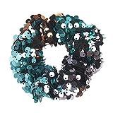Zegeey multiple pièces élastiques cheveux en velours pour femme file cravates bandes chouchous, multicolore chouchous à avec élastique métallique femmes et filles coiffure queue de cheval